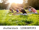 mixed age group of people... | Shutterstock . vector #1208389393