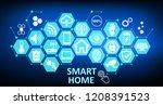 smart home   futuristic... | Shutterstock .eps vector #1208391523