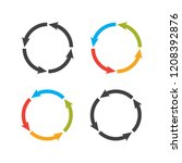 circle arrows steps. processes... | Shutterstock .eps vector #1208392876