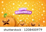 halloween horizontal web banner ... | Shutterstock .eps vector #1208400979