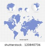 world map | Shutterstock .eps vector #120840736