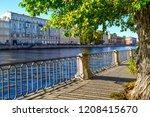 city river embankment scene....   Shutterstock . vector #1208415670