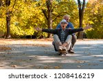 senior couple having fun...   Shutterstock . vector #1208416219