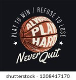 typography slogan with... | Shutterstock .eps vector #1208417170