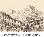 mountains panorama  alpine... | Shutterstock .eps vector #1208420899