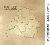 belarus on the map of balkans... | Shutterstock .eps vector #1208424943