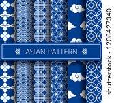 oriental asian traditional... | Shutterstock .eps vector #1208427340