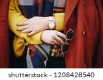 street style fashion details.... | Shutterstock . vector #1208428540