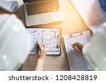 architect   engineer  ...   Shutterstock . vector #1208428819