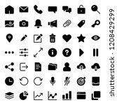 simple icon set for web and...   Shutterstock .eps vector #1208429299