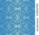 Seamless Blue Wallpaper   Styl...