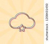 bookmark cloud database. linear ... | Shutterstock .eps vector #1208431450