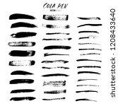 cola pen and brushes vector set.... | Shutterstock .eps vector #1208433640