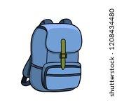 backpack. bag. vector...   Shutterstock .eps vector #1208434480