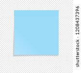blue sticky note isolated on a... | Shutterstock .eps vector #1208437396