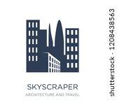 skyscraper icon. trendy flat... | Shutterstock .eps vector #1208438563