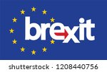 brexit  eu visual design with... | Shutterstock .eps vector #1208440756