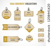 vector stickers  price tag ... | Shutterstock .eps vector #1208441620