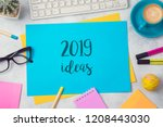 2019 ideas text on colorful... | Shutterstock . vector #1208443030