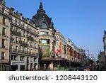 paris  france   may 15  2018 ... | Shutterstock . vector #1208443120
