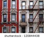ornate apartment buildings in... | Shutterstock . vector #120844438