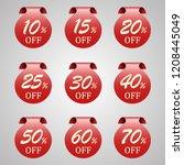 sale tags set vector badges... | Shutterstock .eps vector #1208445049