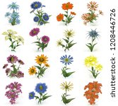 2d illustration. decorative... | Shutterstock . vector #1208446726