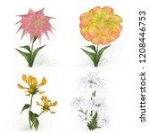 2d illustration. decorative... | Shutterstock . vector #1208446753