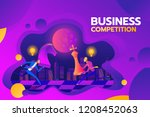 concept of business competition.... | Shutterstock .eps vector #1208452063