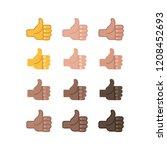like vector icons  positive... | Shutterstock .eps vector #1208452693