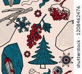 winter berries and plants.   Shutterstock .eps vector #1208462476