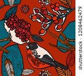 winter berries and plants. | Shutterstock .eps vector #1208462479