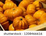 Crate Of Halloween Pumpkins In...