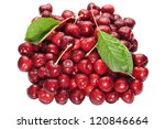 red cherry isolated on white... | Shutterstock . vector #120846664