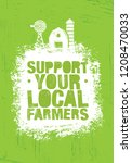 support your local farmers.... | Shutterstock .eps vector #1208470033