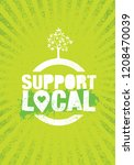 support your local farmers.... | Shutterstock .eps vector #1208470039