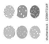 fingerprint icon. set.... | Shutterstock .eps vector #1208472169