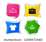 cloakroom icons. hanger... | Shutterstock .eps vector #1208472460