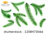 set of isolated pine tree... | Shutterstock .eps vector #1208473066