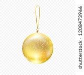 christmas golden bauble... | Shutterstock .eps vector #1208473966