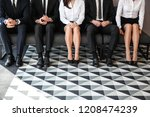 people waiting for job...   Shutterstock . vector #1208474239