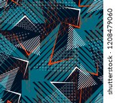 sports textile modern seamless... | Shutterstock .eps vector #1208479060