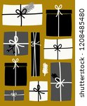 christmas design with gift... | Shutterstock .eps vector #1208485480