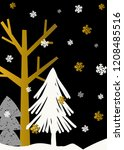 christmas design with trees and ... | Shutterstock .eps vector #1208485516