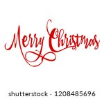 merry christmas red... | Shutterstock .eps vector #1208485696
