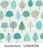 seamless tree pattern... | Shutterstock .eps vector #120848788