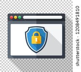 web browser application with a... | Shutterstock .eps vector #1208491810