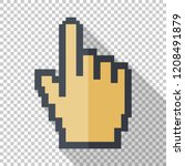 pixelated mouse cursor in flat... | Shutterstock .eps vector #1208491879