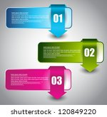 web banners with number options | Shutterstock .eps vector #120849220