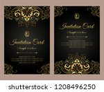 invitation card luxury gold... | Shutterstock .eps vector #1208496250